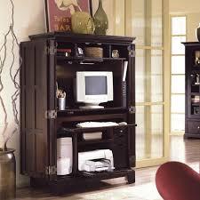 Espresso Corner Computer Desk by Furniture Contemporary Home Office Idea With Computer Armoire