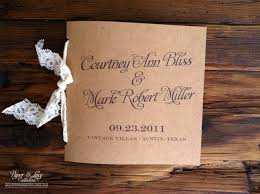 kraft paper wedding programs rustic wedding programs kraft and lace by paperandlaceaustin