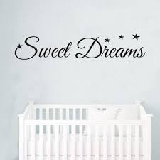 sweet dreams stars baby kids quote wall stickers art room sweet dreams stars baby kids quote wall stickers art room removable decals diy