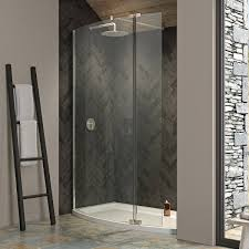 ultimate 2 8mm curved recess walk in shower enclosure 1500 x 700