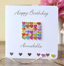 birthday card handmade personalised mum dad name daughter