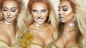 lion halloween makeup youtube