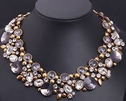 chunky chain pendant necklace images Fashion charm chunky crystal statement bib chain choker pendant jpg