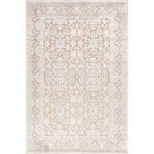 ivory rugs transitional pattern ivory rug 7 6 x 9 6 overstock