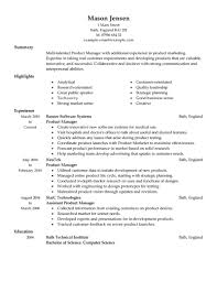 Management Resume Examples by Product Manager Resume Sample Berathen Com