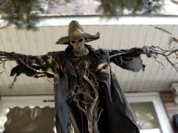 cool halloween yard decorations pumpkinrot yard haunt my inspiration for fencepost johnny