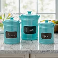 kitchen canister set turquoise chalkboard kitchen canisters set of 3 kirklands