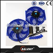 10 inch radiator fan auto parts 10 inch universal slim fan push pull blue electric