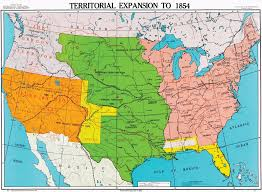 map us expansion territorial expansion to 1854 u s history map