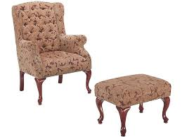 high back wing chair with ottoman home chair decoration