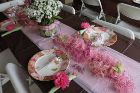 baby shower table settings whimsy wise events pink brown garden baby shower