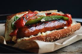 grilled sausage and peppers living the gourmet