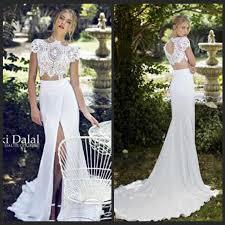 two wedding dress discount 2017 summer chiffon wedding dresses mermaid high