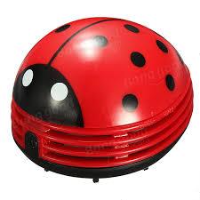 Ladybug Desk Accessories Portable Beetle Ladybug Desktop Vacuum Desk Dust Cleaner Us