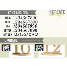 wedding table number fonts wooden wedding table numbers for reception decor z create design