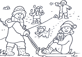 winter activities coloring pages fun winter coloring