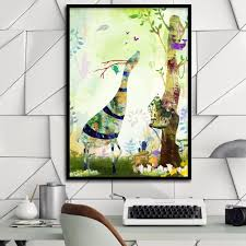 aliexpress com buy kawaii cartoon dream fairy tale forest inset aliexpress com buy kawaii cartoon dream fairy tale forest inset canvas print painting poster wall pictures for kids room wall decor home decor from