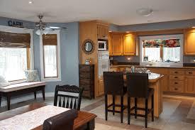 blue kitchen walls with brown cabinets kitchen cabinet ideas