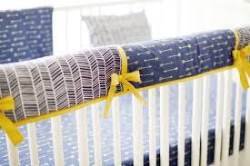 navy and gold arrow crib rail guard crib rail cover navy crib