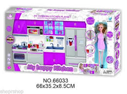 Deluxe Kitchen Play Set by My Modern Kitchen Full Deluxe Kit Battery Operated Toy Doll