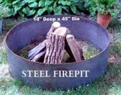 Fire Pit Liners by Flange Top Stainless Steel Fire Pit Liners