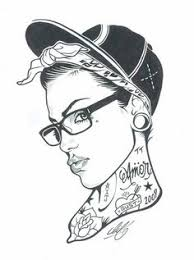 chicano swag style drawing tattoos skull chicano gangsta