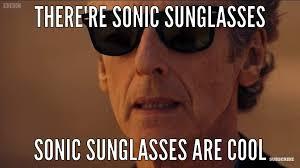 Sunglass Meme - sonic sunglass meme doctor who amino