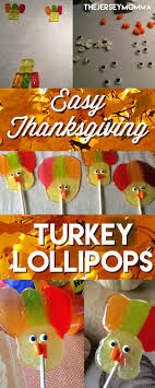the jersey momma easy turkey shaped lollipops for thanksgiving