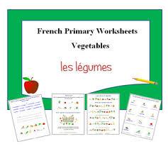 vegetables french printable activities food kids worksheets