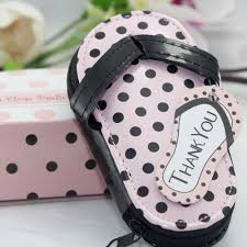 manicure set favors pink polka dot purse pedicure thank you gifts bridal shower