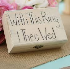 with this ring i thee wed with this ring i thee wed rustic ring bearer pillow item e10479
