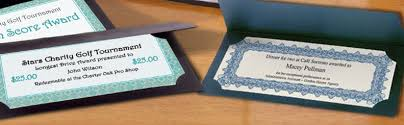 gift certificate printing blank gift certificates for printing paperdirect