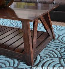 Wood End Table Plans Free by Remodelaholic Diy Slat Coffee Table