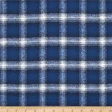 kaufman mammoth flannel plaid cobalt discount designer fabric