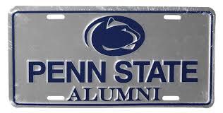 penn state alumni license plate penn state logo alumni license plate souvenirs car accessories