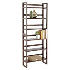 stackable bookcases solid wood folding bookshelf java solid wood stackable folding bookshelf
