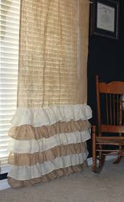 Burlap Ruffle Curtain Burlap Curtains Ruffles