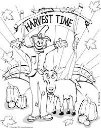 happy harvest coloring pages coloring