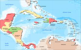 Latin America Physical Map Quiz by Map Of Central America And The Caribbean Roundtripticket Me