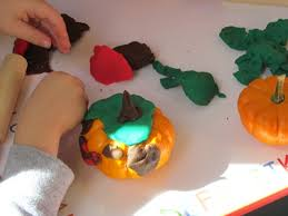 Small Pumpkins Decorating Ideas Pumpkin Playdough Decorating In Preschool Teach Preschool