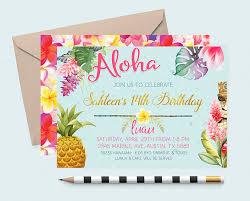 luau invitations luau birthday invitation hawaiian invitations pineapple invitation