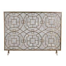 living room wrought iron custom 3 panel fireplace screen 60