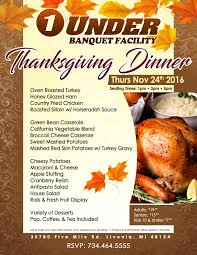 thanksgiving dinner buffet 1pm 3pm 5pm banquet one