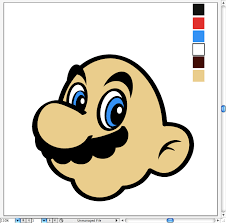 beginner tutorial create super mario u0027s head on illustrator