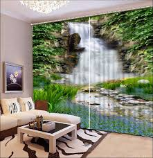 Large Window Curtains Interiors Amazing Large Window Curtain Ideas Curtains Waterfall