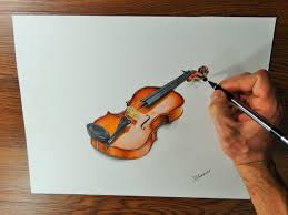 violin time lapse drawing video how i draw a violin youtube