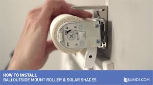 how to install bali cordless solar and roller shades outside