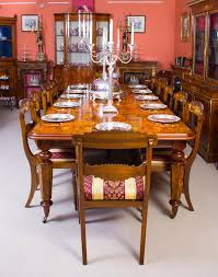 dining room table with 12 chairs victorian style marquetry dining table and 12 chairs at 1stdibs
