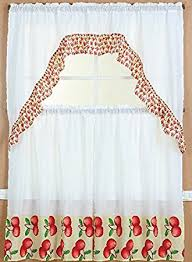 Apple Curtains For Kitchen by Amazon Com Gorgeoushomelinendifferent Designs 3pc Kitchen Window