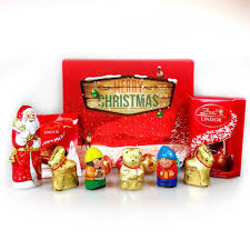 gift boxes christmas lindt santa and friends ultimate christmas selection gift box by